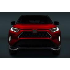 Хром на решетку радиатора Тойота Рав 4 2020+