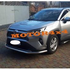 Защита переднего бампера Toyota Rav4 2019-2020+