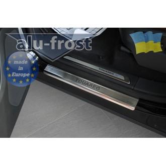 Накладки на пороги Alufrost для VW Touareg 2010+