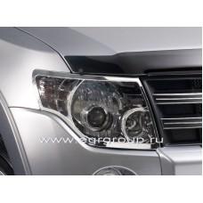Хром передних фар EGR Mitsubishi Pagero Wagon 4