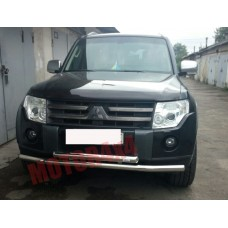 Защита бампера двойная Mitsubishi Pajero Wagon 4