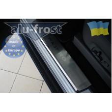Накладки на пороги Alufrost для Mitsubishi Pajero Wagon 4